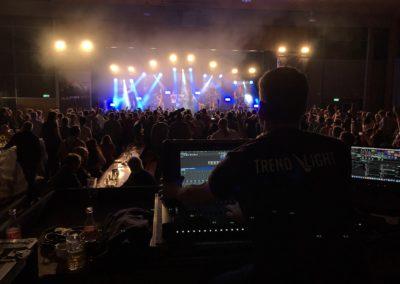 Lichtshow bei einem Konzert