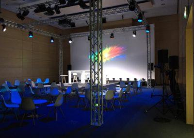 Ton- und Lichttechnik eines Firmenevents