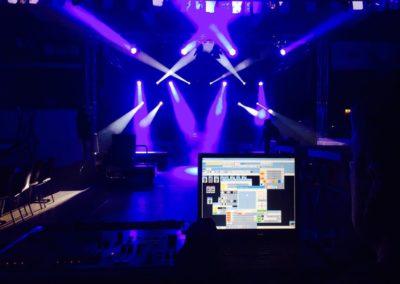 Lichttechnik einer Bühne